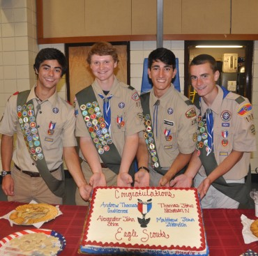 Simsbury Troop 175 Recognizes Four New Eagle Scouts