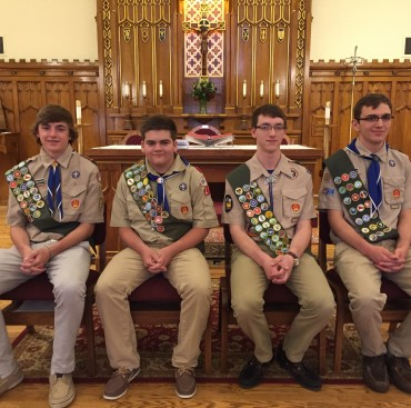 Four New Scouts Take Flight as Troop 175 Eagles