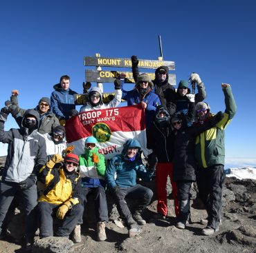 Simsbury's BSA Troops 175 and 1175 On Top of Africa